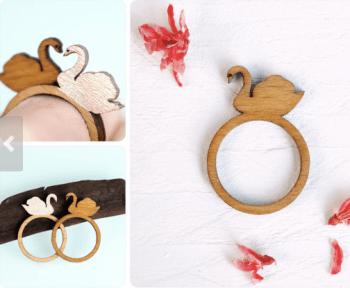 swan ring by fraufischers