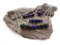 lava rock aromatherapy necklaces by QuiddityGifts