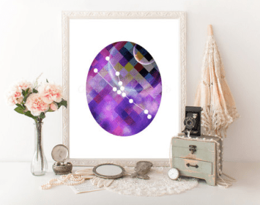 Geometric Taurus Constellation by MinnesotaPrintCo