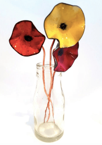 enamelled copper poppies by MaisyPlum
