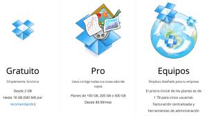 DropBox: ¿Cuál es su precio?