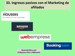 33. Ingresos pasivos con el Marketing de afiliados
