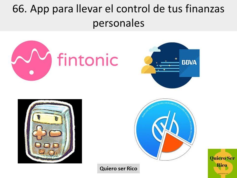 66. App para llevar el control de tus finanzas personales