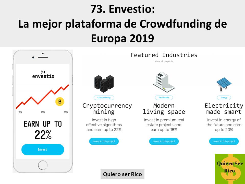 73. Envestio: La mejor plataforma de Crowdfunding de Europa 2019