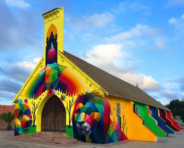Abandoned-Church-Transformed-With-Colorful-Graffiti-1