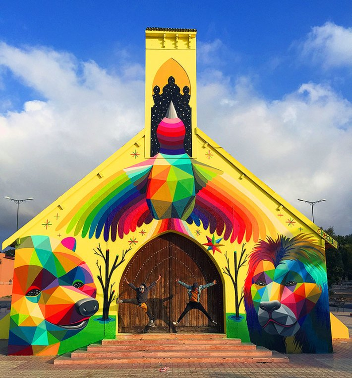 Abandoned Church Transformed With Colorful Graffiti