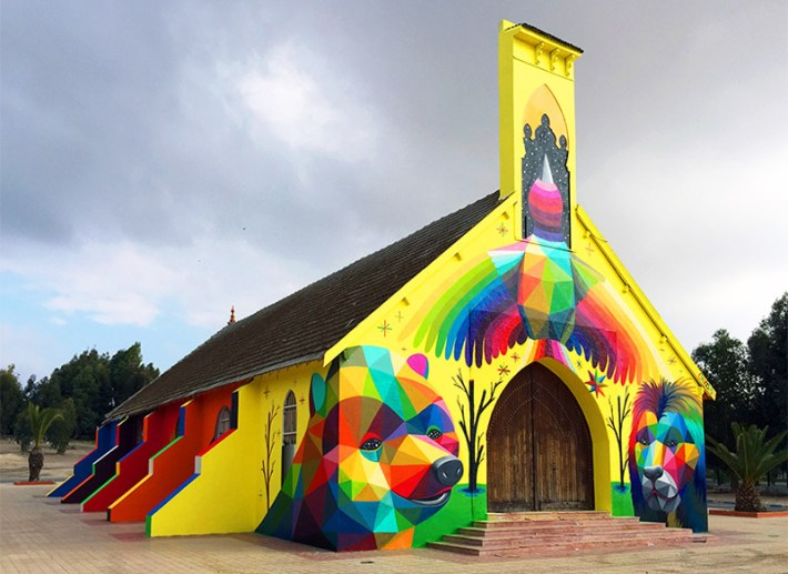 Abandoned-Church-Transformed-With-Colorful-Graffiti-8
