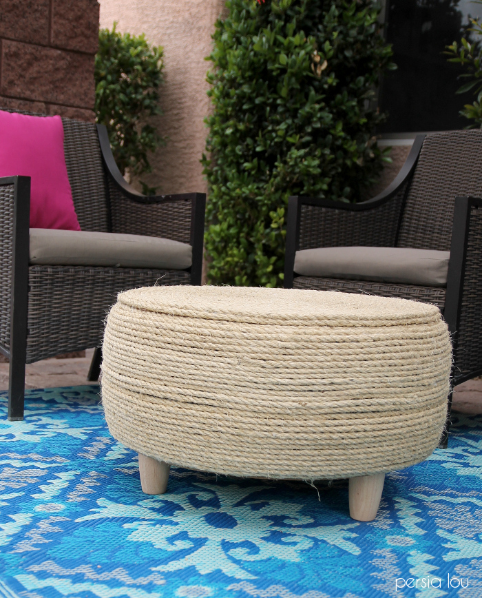 DIY Recycled Tire Coffee Table - Quiet Corner