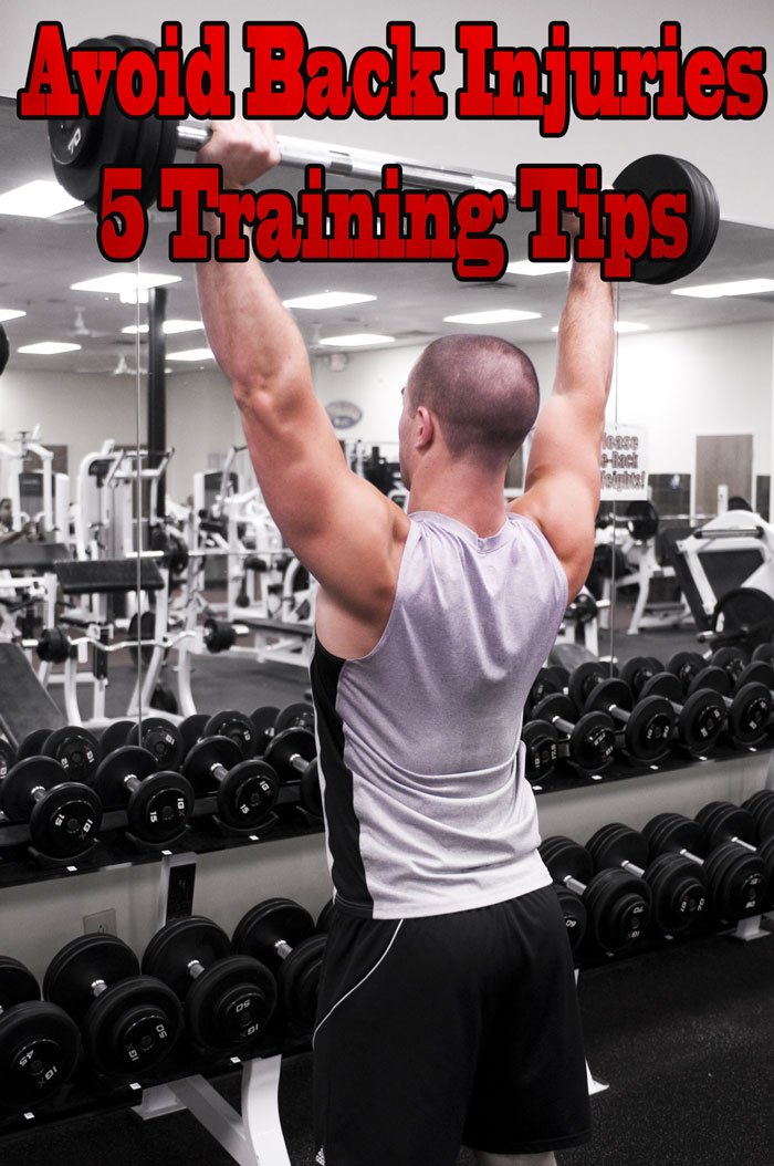 Avoid Back Injuries – 5 Training Tips