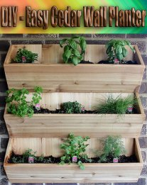 DIY - Easy Cedar Wall Planter