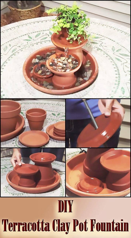DIY – Terracotta Clay Pot Fountain