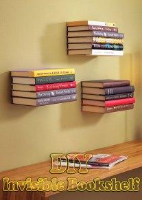 DIY Tutorial: How to Make Invisible Bookshelf