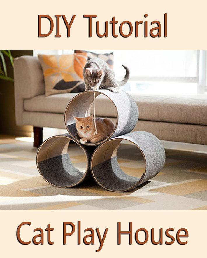 DIY Tutorial Kitty Corner Cat Play House