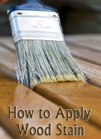Wood Finishing - How to Apply Wood Stain 2