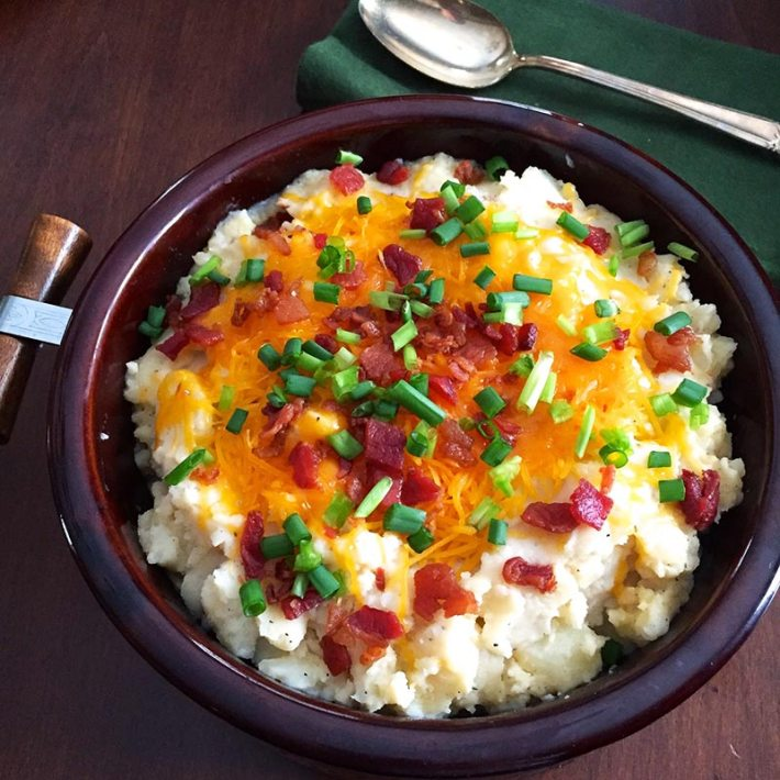 Slow Cooker Loaded Mashed Potatoes Recipe