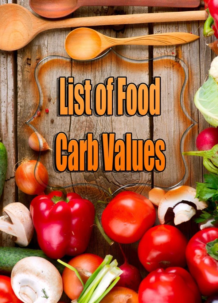 List of Food Carb Values
