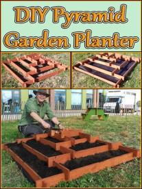 DIY - Pyramid Garden Planter