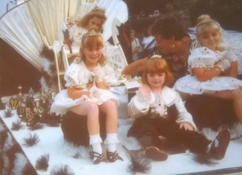 Me, age 6, at Falmouth Carnival