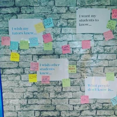 Worry Wall on Time to Talk Day 2018