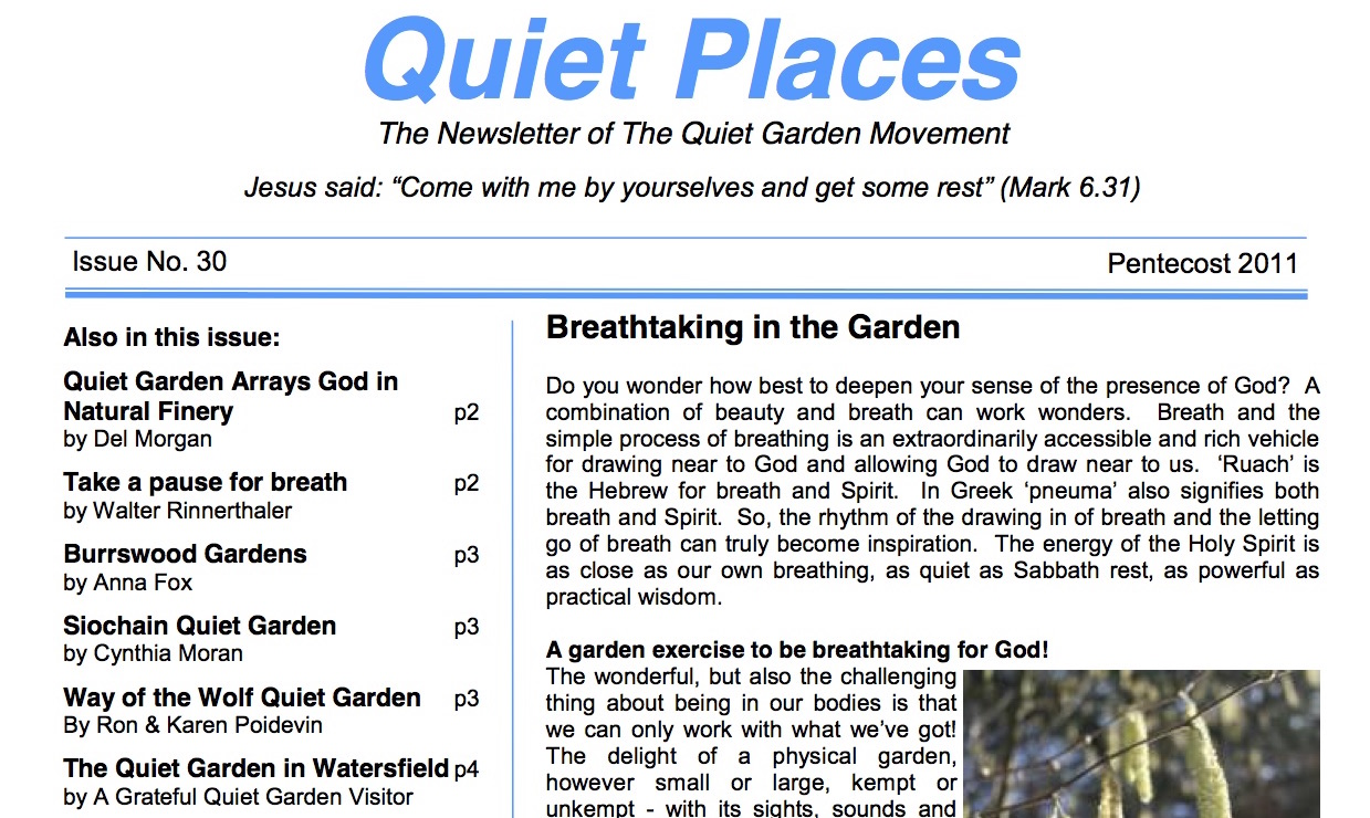 Quiet Places 30 – Pentecost 2011