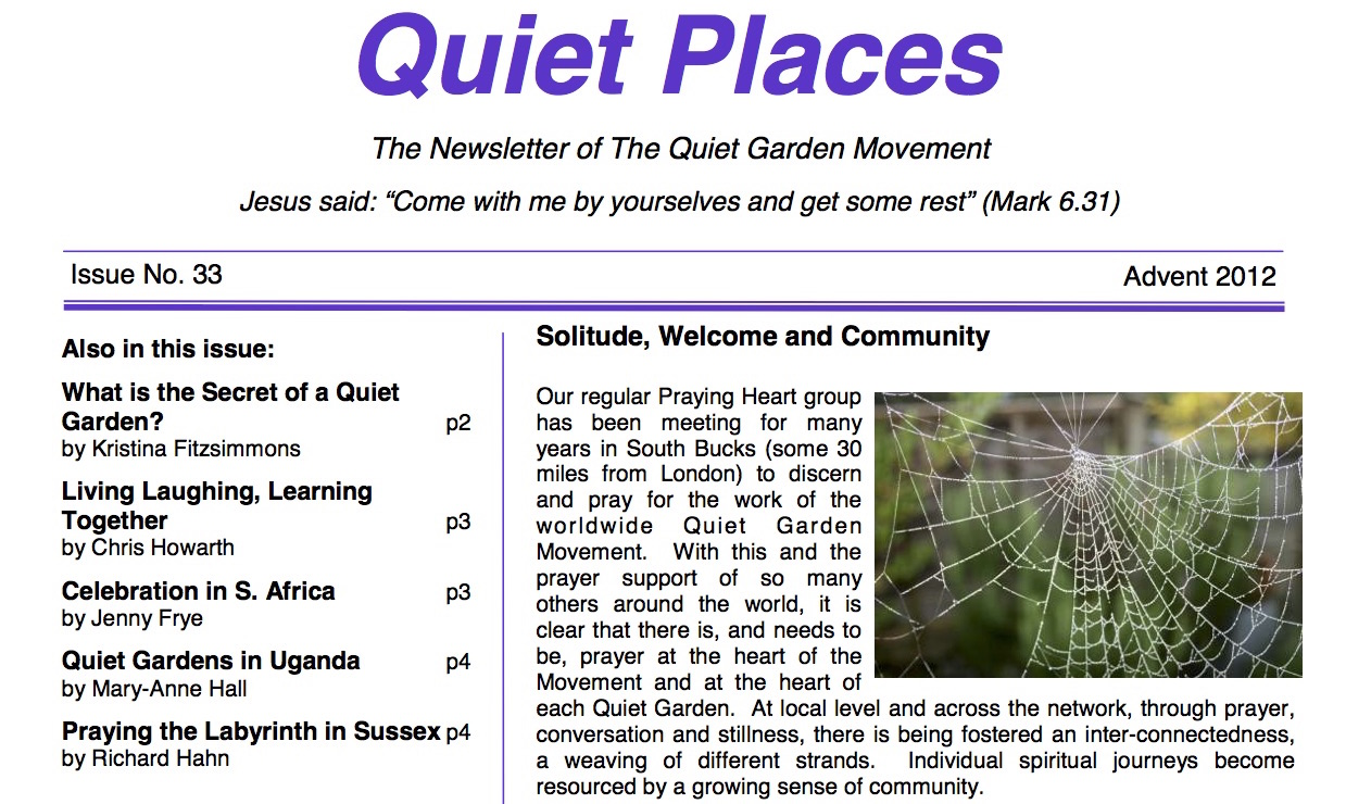 Quiet Places 33 – Advent 2012
