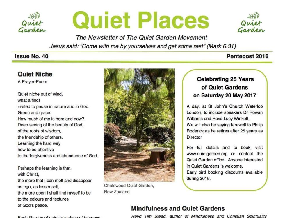 Quiet Places 40 – Pentecost 2016