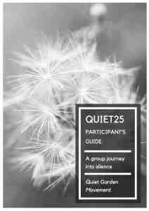 Quiet25 Participants Guide Cover