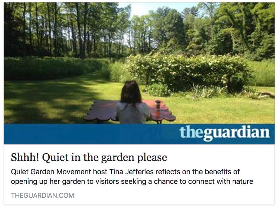 Shhh! Quiet In The Garden Please