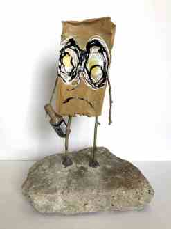 Jon Pylypchuk, It's in these moments between thoughts that I miss you most, 2016. | Bronze, spray paint, enamel and wood, 16 x 7 x 3.4 in. (Edition of 10., unique). | Courtesy Los Angeles Nomadic Division (LAND).