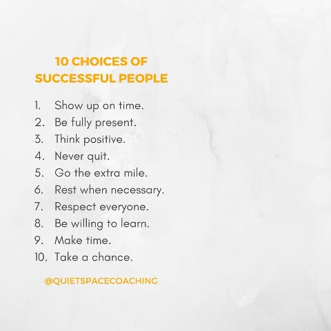 10 choices of successful people