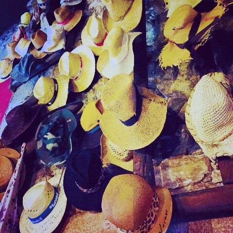 Camino de Santiago wall of hats