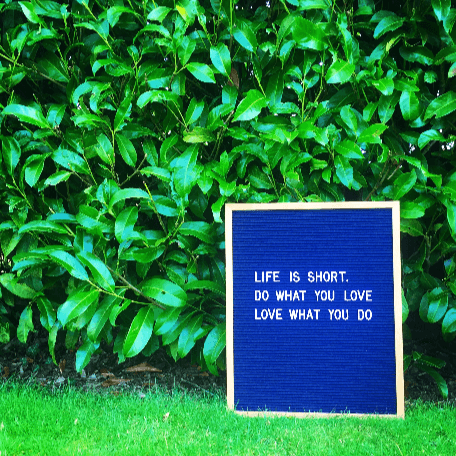 Life is short. Do what you love, love what you do