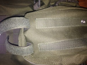 Molle straps have hook and loop, just thread, snap and squeeze