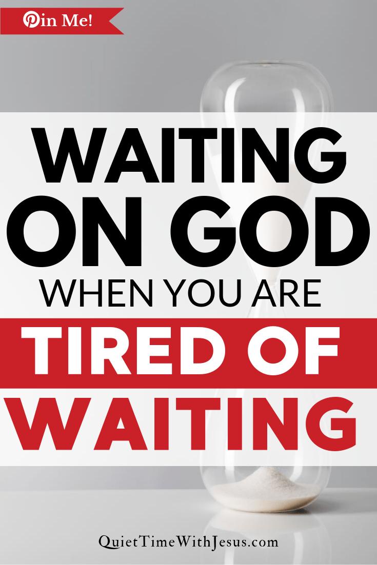 waiting on God having patience
