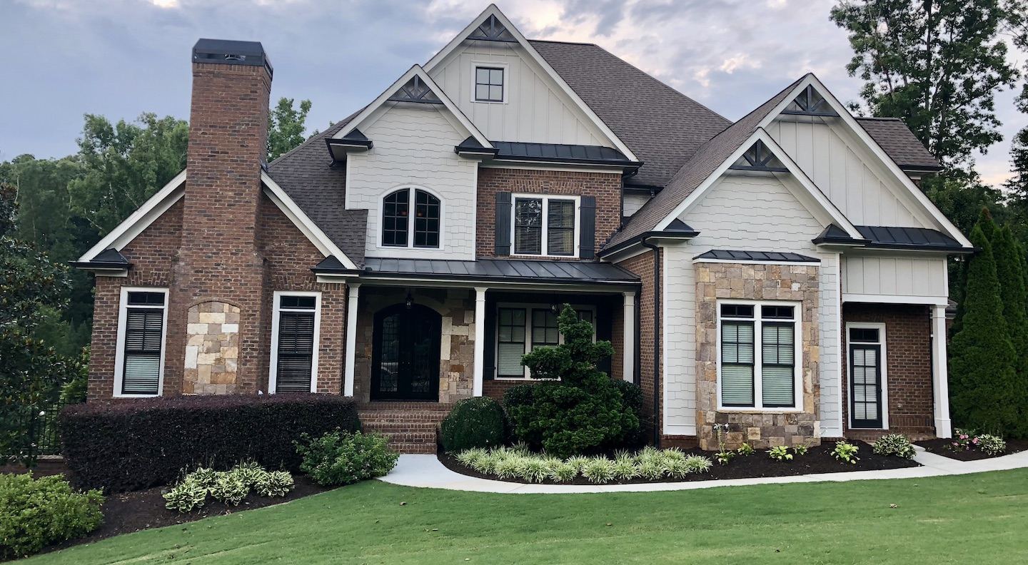 craftsman style house showing an example of landscape design in Flowery Branch