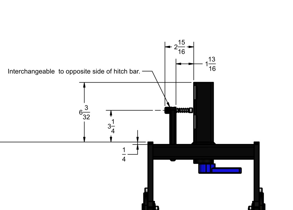 Mach2 Hitch dimensions drawing