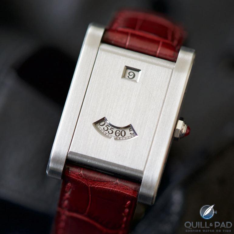 Cartier Tank à Guichets in platinum