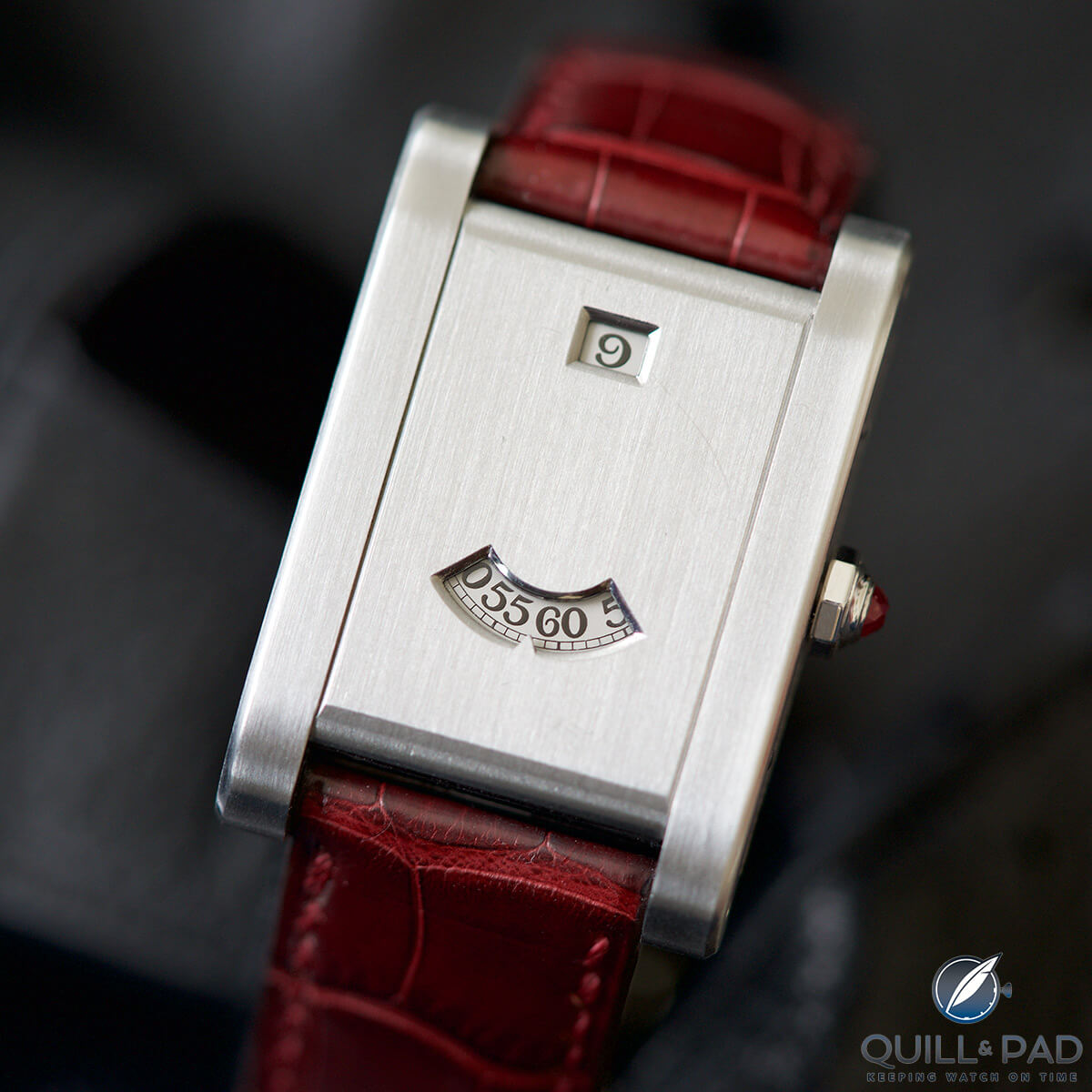 My First Hands On Encounter With The Cartier Tank      Guichets  A     Cartier Tank      Guichets in platinum