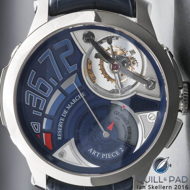 Close up look dial side of the Greubel Forsey Art Piece 2 Edition 2