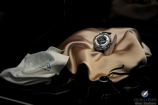 """Vianney Halter Deep Space Tourbillon on display at the """"Watchmakers: The Masters of Art Horology"""" exhibition at Maxxi, Rome"""