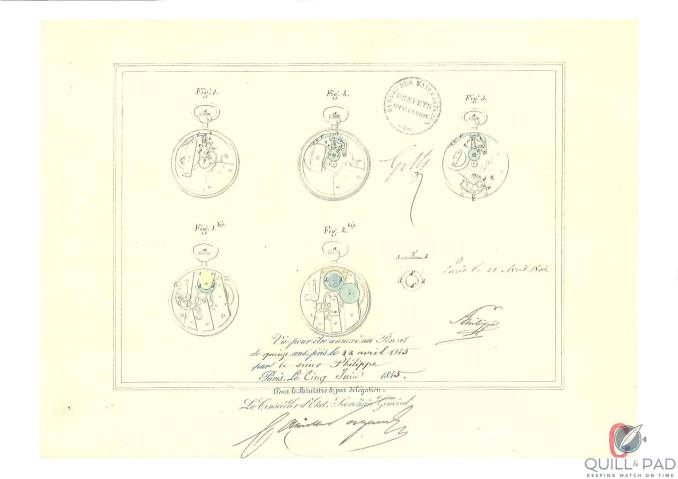 Patent from 1317 for winding mechanism of pocket watch