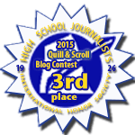 Third Place in 2015 Quill & Scroll Blogging Contest