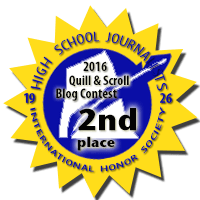 Second Place in 2016 Quill & Scroll Blogging Contest