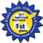 First Place in 2017 Quill & Scroll Blogging Contest