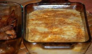 Mashed Potato Casserole & Grilled Lemon Chicken