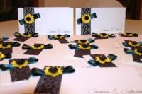 invitatie floarea soarelui quilling for you