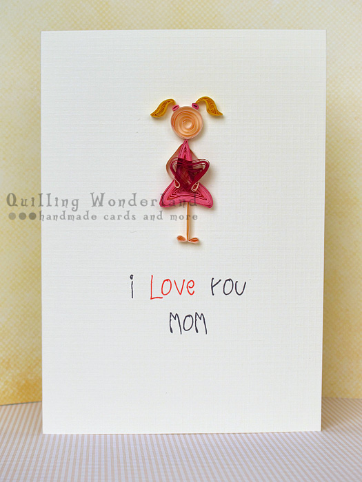Love You Mom Cute Greeting Card