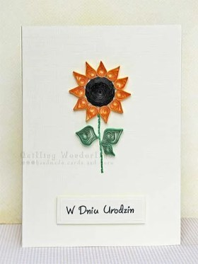 Birthday Sunflower Card handmade