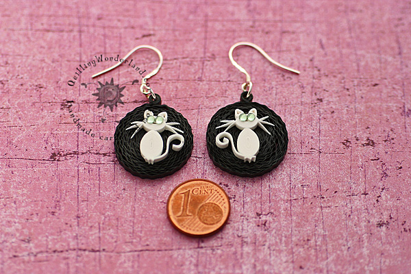 Quilling Cat earrings
