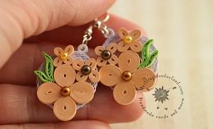 Eco Friendly Paper Earrings